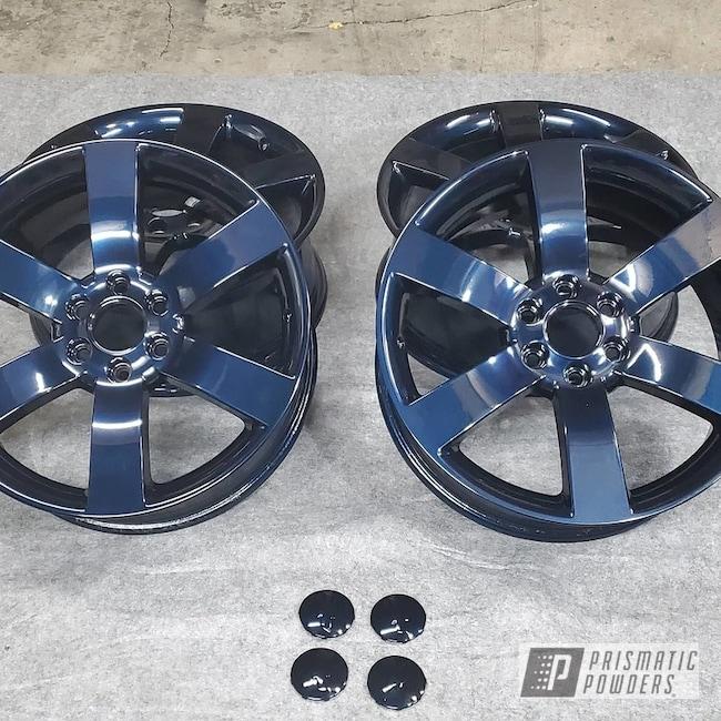 "Powder Coating: Wheels,20"" Wheels,Trailblazer SS,Rims,Misty Midnight PMB-4239,Chevy"