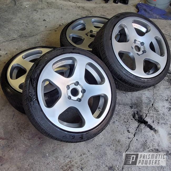 "Powder Coating: Wheels,EuroVan,POLISHED ALUMINUM HSS-2345,Rims,18"" Aluminum Rims,VW,Rotiform,Rotiform Wheels"