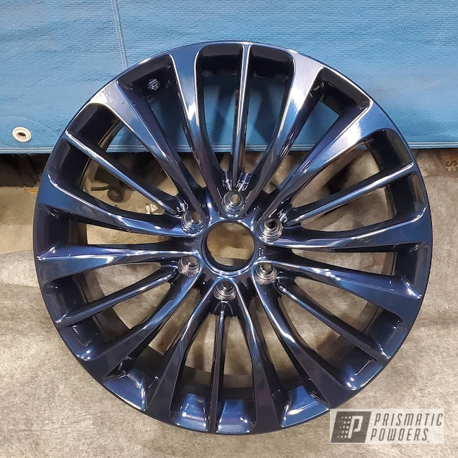"Powder Coating: Wheels,Clear Vision PPS-2974,Misty Blue PMB-4246,Rims,22"",Infiniti,QX56"