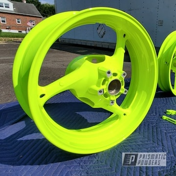 Powder Coated Motorcycle Wheels And Parts In Pps-2974 And Pss-1104