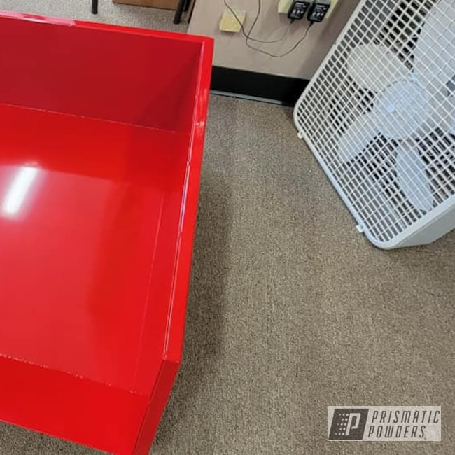 Powder Coating: Dump Box,Tractor Parts,Custom Tractor Box,RAL 3002 Carmine Red,Garden Tractor
