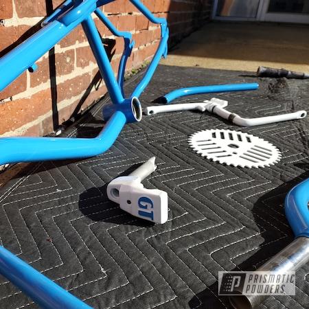 Powder Coating: Bicycles,BMX Bike,RAL 9016 Traffic White,BMX,RAL 5012 Light Blue