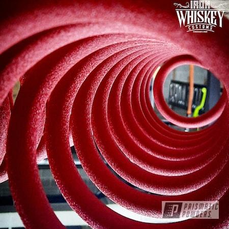 Powder Coating: Coils,Springs,Desert Red Wrinkle PWS-2762,coil springs