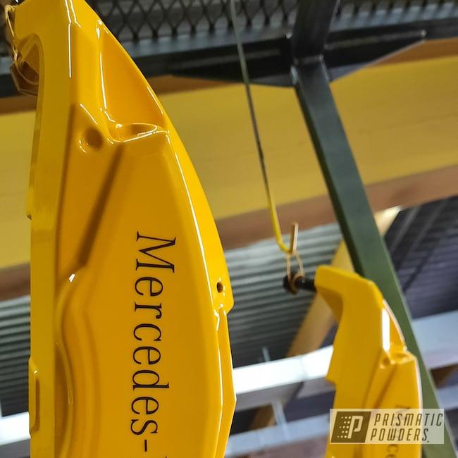 Powder Coating: Automotive,Brake Calipers,Brembo Brakes,Brembo Brake Calipers,Hot Yellow PSS-1623