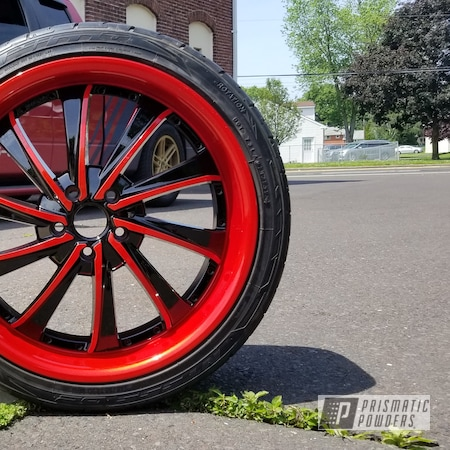 Powder Coating: Wheels,Clear Vision PPS-2974,Ink Black PSS-0106,Illusion Red PMS-4515,Two Tone Wheels,Two Tone,Automotive Rims,Automotive Wheels