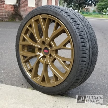 Powder Coating: Wheels,Automotive,STI Wheels,Subaru STI Wheels,Alpine Bronze PMS-4645,Subaru,Automotive Rims,Automotive Wheels