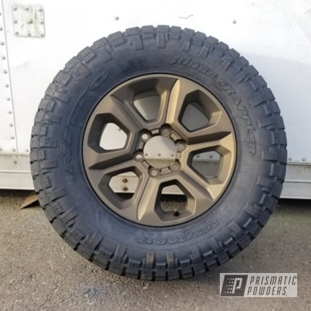 Powder Coating: Wheels,Automotive,Two Stage Application,Rims,Toyota Wheels,Toyota,Automotive Rims,Highland Bronze PMB-5860,Casper Clear PPS-4005,Automotive Wheels