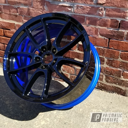 Powder Coating: Wheels,Clear Vision PPS-2974,Illusion Blueberry PMB-6908,Automotive Wheels