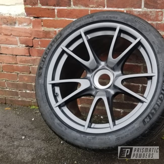 Powder Coating: Wheels,Porsche Wheels,Rims,Porsche,Automotive Rims,STEALTH CHARCOAL PMB-6547,Automotive Wheels