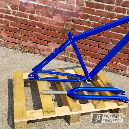 Powder Coating: Bicycles,Clear Vision PPS-2974,Bike Frame,Bicycle Frame,Illusion Smurf PMB-6909