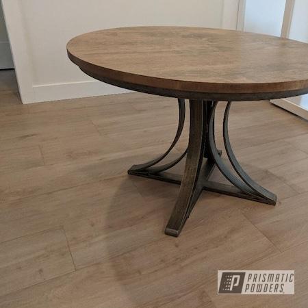 Powder Coating: Clear Coat,Custom Furniture,Casper Clear PPS-4005,Custom Table Base,Furniture