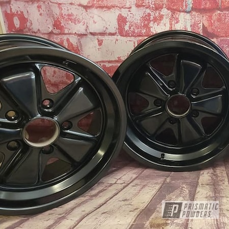 Powder Coating: Wheels,Black Metallic PMB-4105,Rims,Porsche,Automotive Rims,Automotive Wheels,Steel Rims