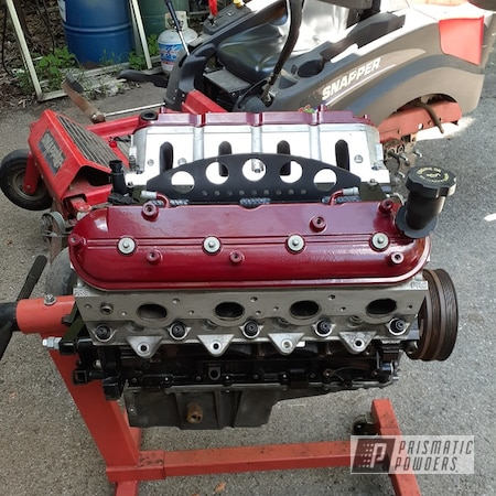 Powder Coating: Automotive,Chevrolet 6.0 v8,Chevrolet,Valve Covers,Engine Parts,Racing Burgundy PMB-5941