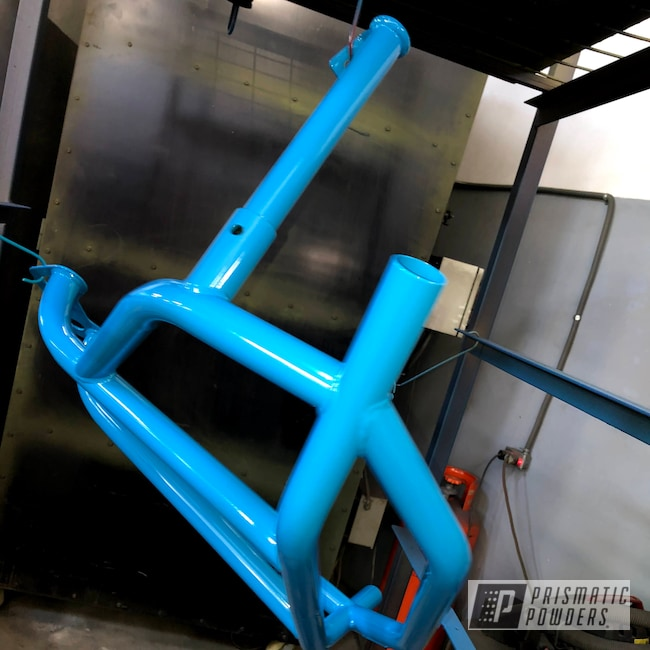 Powder Coating: Maverick X3 XRC 2018,Buggy,Grumpy Blue PSB-6840,Bumpers,Lone Star Racing,SXS,Can-Am