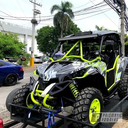 Powder Coating: Buggy,Maverick 1000 Turbo,ATV,Chartreuse Sherbert PSS-7068,Accessories,ATV Parts,SXS,Can-Am,SXS Restoration,Accent