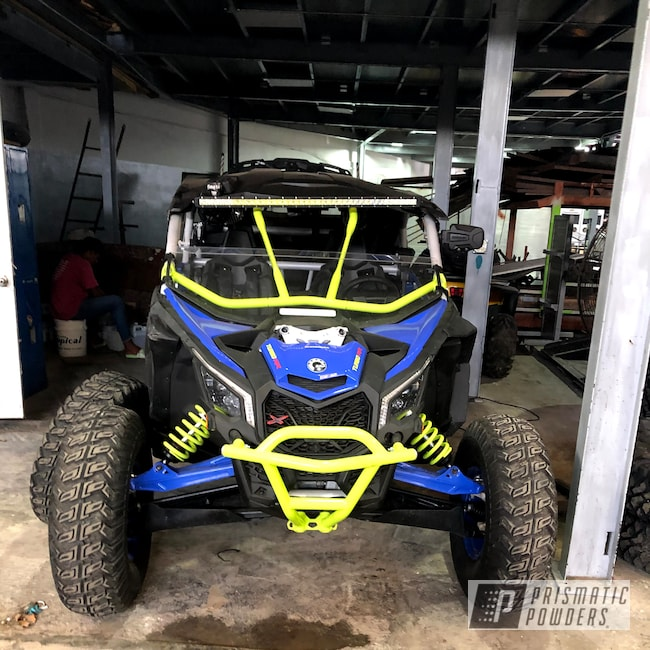 Powder Coating: Chartreuse Sherbert PSS-7068,Accessories,Maverick X3 XRS Max,SXS,Can-Am