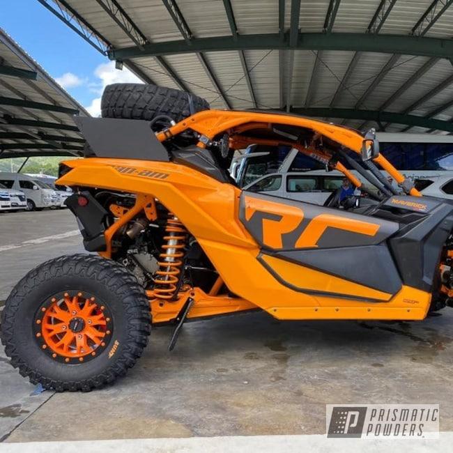 Powder Coating: Custom Wheel Color,SB-4 Beadlocks,ATV,SXS,Can-Am,ATV Wheels,Bright Orange PSS-0879,System 3 Wheels