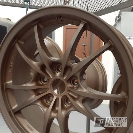 "Powder Coating: Wheels,Rims,17"" Aluminum Rims,Flat Clear PPS-5090,Highland Bronze PMB-5860"