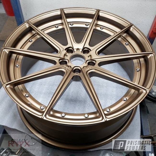 "Powder Coating: Wheels,ADV1,Rims,powder coating,Prismatic Powders,22"",Highland Bronze PMB-5860"