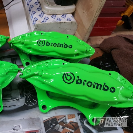 Powder Coating: Calipers,Clear Vision PPS-2974,Chevrolet,Brembo,Brake Calipers,Neon Green,Brembo Brake Calipers,Neon Green PSS-1221,Brake Caliper,Camaro