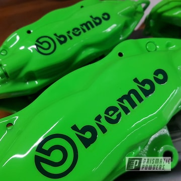 Powder Coated Brembo Brake Calipers In Pps-2974 And Pss-1221