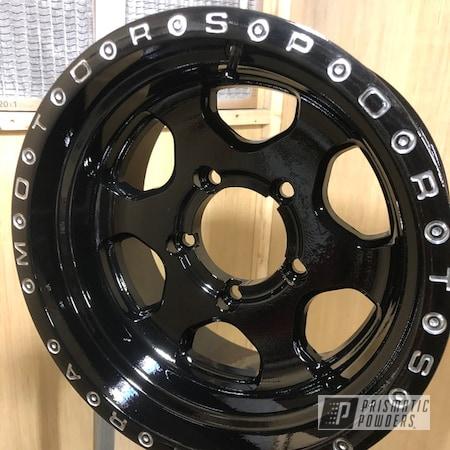 "Powder Coating: Wheels,4x4,Clear Vision PPS-2974,POLISHED ALUMINUM HSS-2345,ULTRA,Ink Black PSS-0106,15"" Aluminum Rims,Motosport"