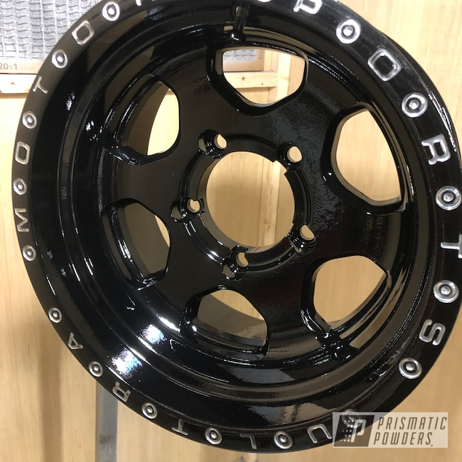 "Powder Coating: Wheels,4x4,Clear Vision PPS-2974,POLISHED ALUMINUM HSS-2345,ULTRA,Ink Black PSS-0106,15"" Aluminum Rims,Motosport"