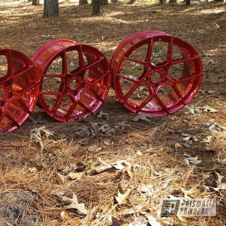 Powder Coating: Wheels,LOLLYPOP RED UPS-1506,Rims
