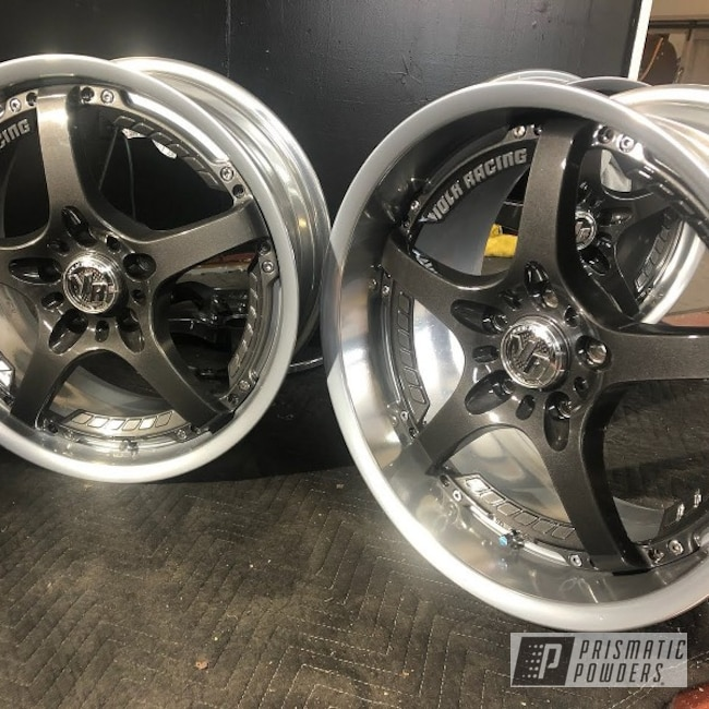 Powder Coating: Wheels,Evo Grey PMB-5969,Clear Vision PPS-2974,volk racing wheels,Rims,VOLK