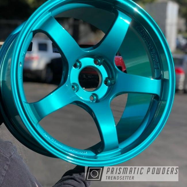 """Powder Coating: Wheels,Advan Wheels,JAMAICAN TEAL UPB-2043,20"""" Wheels,Rims,Japan Made,Tuner,Flow Forming,Advan Racing,Advan Racing Wheels,ADVAN"""