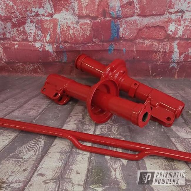 Powder Coating: Automotive,Suspension Parts,Porsche,RAL 3002 Carmine Red,Automotive Parts,Suspension
