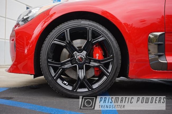Powder Coating: Wheels,Automotive,Custom Wheels,Rims,GLOSS BLACK USS-2603