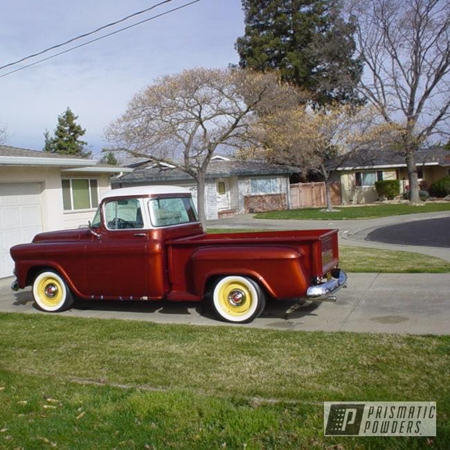 "Powder Coating: Wheels,Pickup,100,17"" Wheels,Vintage Yellow PSB-6879,Restoration,GMC"
