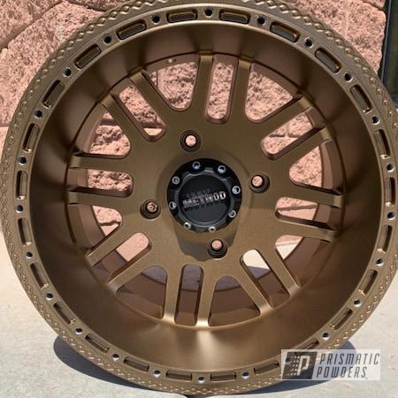 Powder Coating: Wheels,Method Wheels,Rims,Aluminum Rims,Method,Highland Bronze PMB-5860,Method Race Wheels