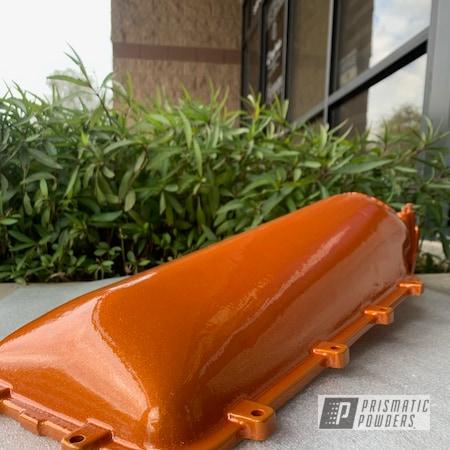 Powder Coating: Automotive,Clear Vision PPS-2974,Air Intake,Illusion Orange PMS-4620