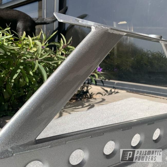 Powder Coating: Clear Coat Used,Crash Bar,Alien Silver PMS-2569