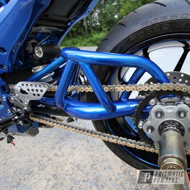 Powder Coating: Swing Arm,Motorcycle Parts,Peeka Blue PPS-4351,GSXR,SUPER CHROME II PSS-10300,Motorcycles
