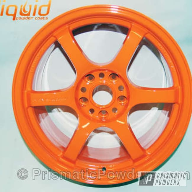 Powder Coating: Wheels,Bright Orange PSS-0879