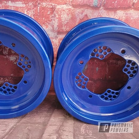 Powder Coating: Clear Vision PPS-2974,ATV,2 Stage Application,Quad Parts,ATV Parts,Illusions,Illusion Smurf PMB-6909