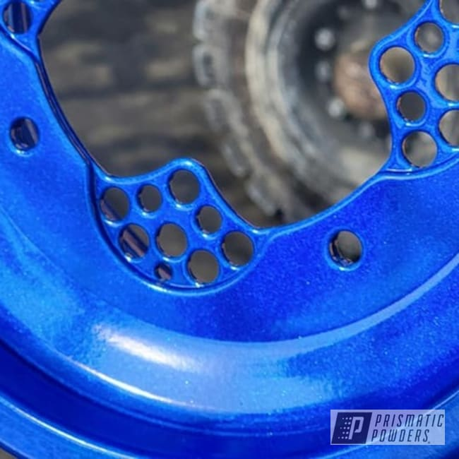 Powder Coating: Clear Vision PPS-2974,ATV,2 Stage Application,Quad Parts,ATV Parts,Illusions,Illusion Smurf PMB-6909