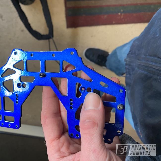 Powder Coating: Cheater Blue PPB-6815,Monster Truck,Grave Digger,Grave Digger Monster Truck,2 Stage Application,Aluminum,SILVER METALLIC II PMB-0513