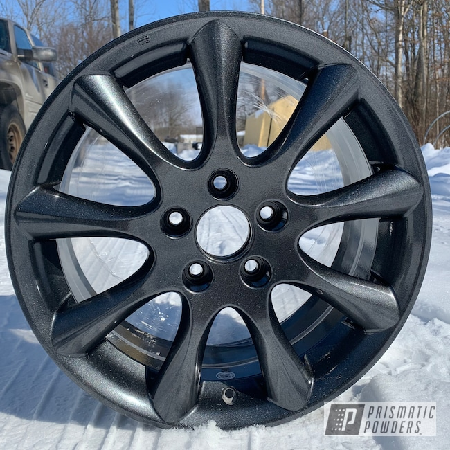 "Powder Coating: Wheels,Rims,17"" Aluminum Rims,Honda,Cadillac Grey PMB-6377,Aluminum Wheels"