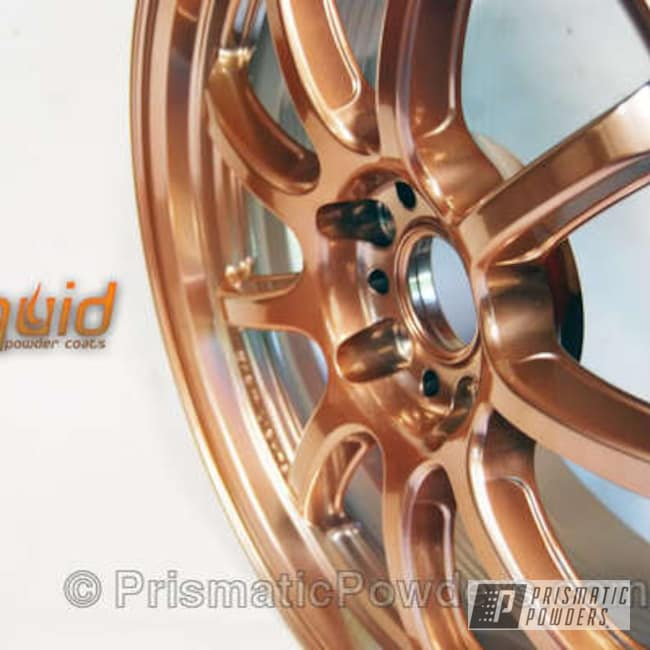 Used Wheels Near Me >> Super Chrome with Penny Gold Top Coat | Gallery Project | Prismatic Powders