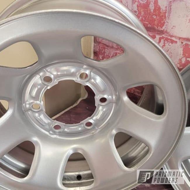 Powder Coating: Wheels,Rims,Steel Wheels,Crushed Silver PMB-1544,Automotive Rims,Automotive Wheels,Steel Rims