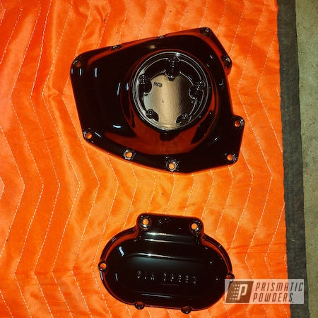Powder Coating: Harley Davidson Parts,Harley Davidson,Motorcycle Parts,Ink Black PSS-0106,Motorcycles,Engine Parts,Harley