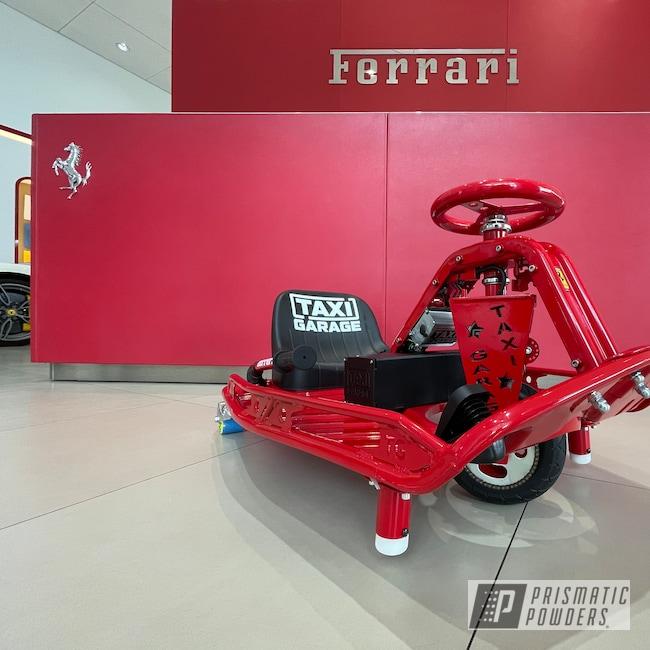 Powder Coating: Red Wheel PSS-2694,Sendit,Taxi Garage Crazy Cart,Taxi Garage,Drift Kart,Crazy Cart