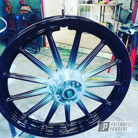 Powder Coating: Wheels,POLISHED ALUMINUM HSS-2345,Motorcycle Rims,Color Fade,Ink Black PSS-0106,Harley Wheels,Aluminum,Motorcycles,Fade,Astatic Red PSS-1738,Flaming Gold PPB-4698,Harley Davidson Parts,Harley Davidson,Custom Motorcycle Wheels,Rims,4 Tone Color Fade,Dyna,FXDX,4 Colors Applicated