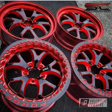 "Powder Coating: Wheels,Automotive,LOLLYPOP RED UPS-1506,Rims,Aluminum Rims,18"" Aluminum Rims,Automotive Rims,Car Parts"