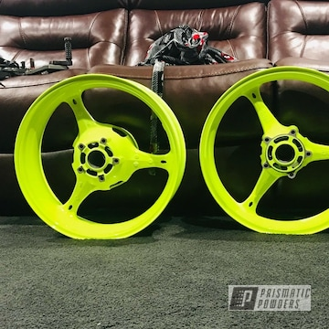 Powder Coated Motorcycle Wheels In Pps-2974 And Pss-1104