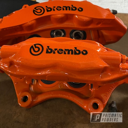 Powder Coating: Calipers,Clear Vision PPS-2974,Brembo Calipers,Brembo,Brake Calipers,Brembo Brake Calipers,Illusion Tangerine Twist PMS-6964